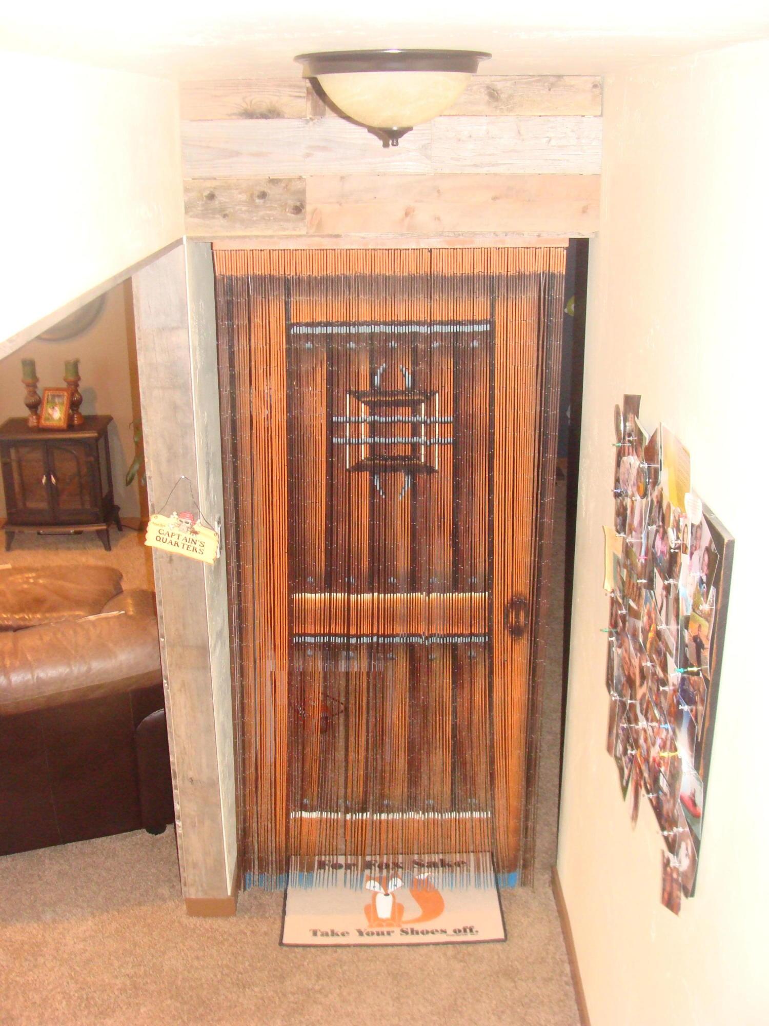 lower level beaded door