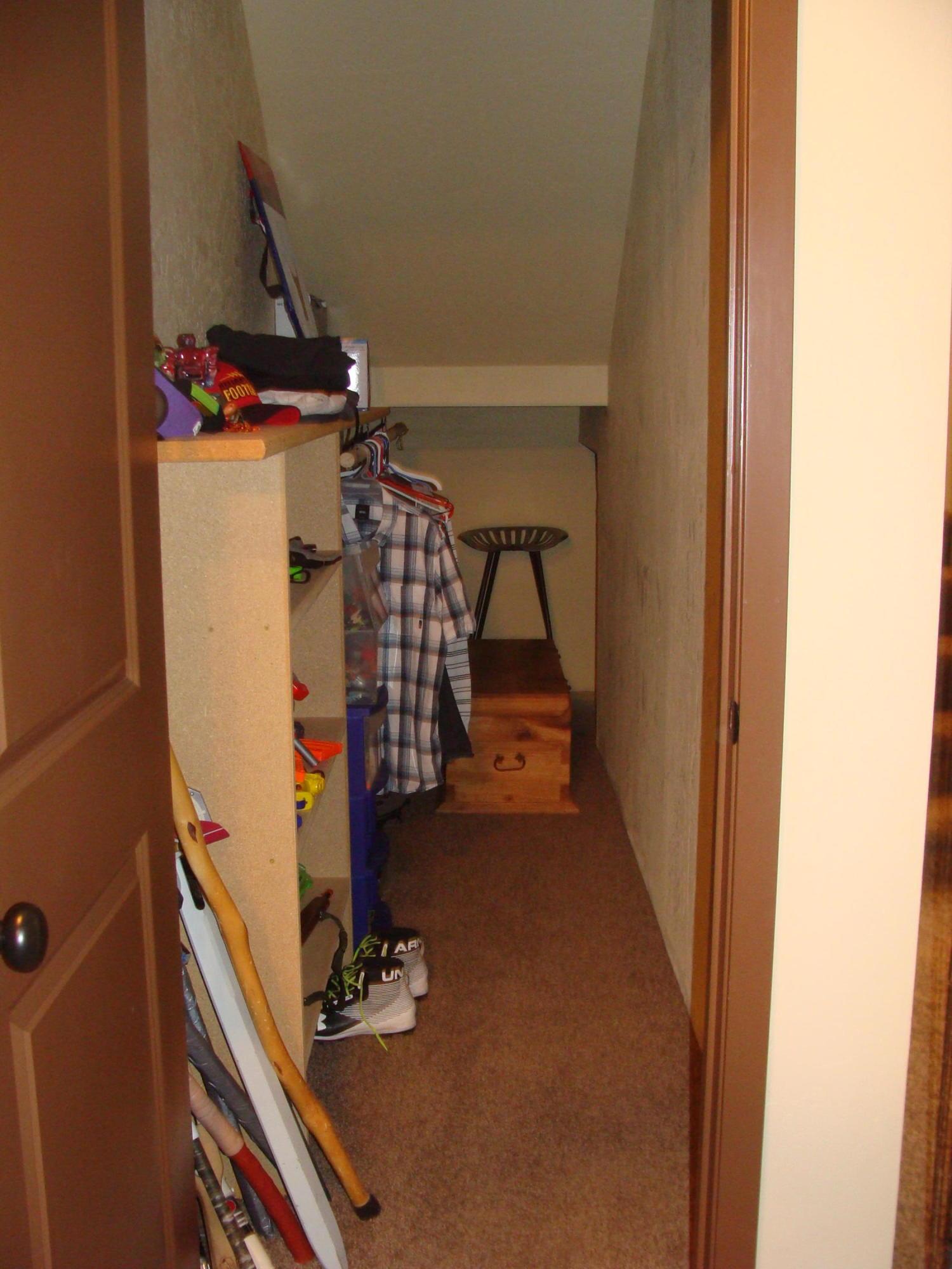 Bonus room large closet