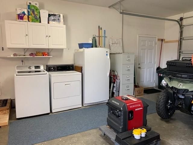 washer & dryer space