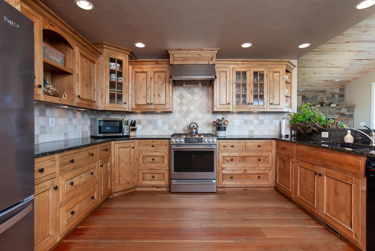 Knotty Alder Kitchen