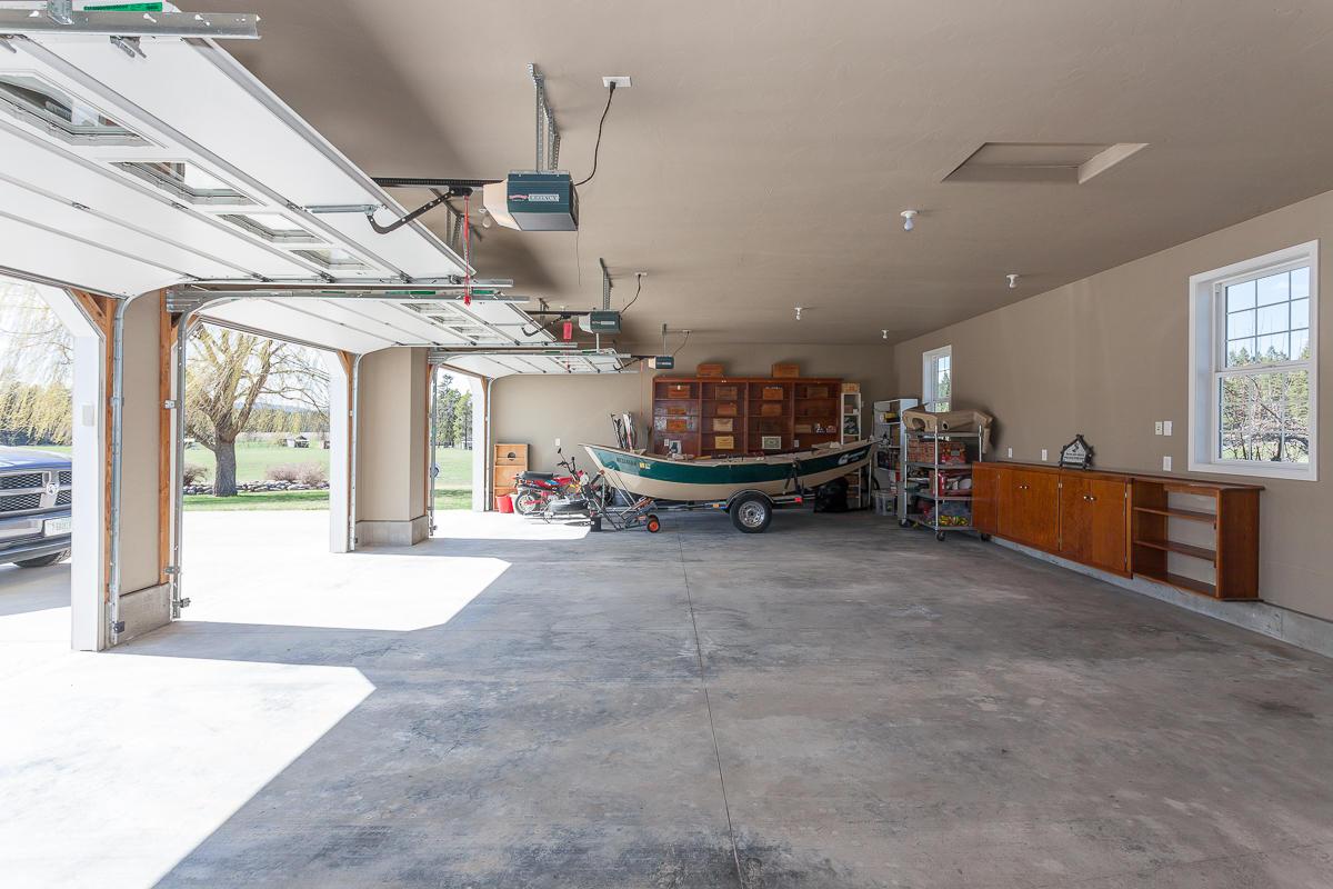 Finished 3-car garage