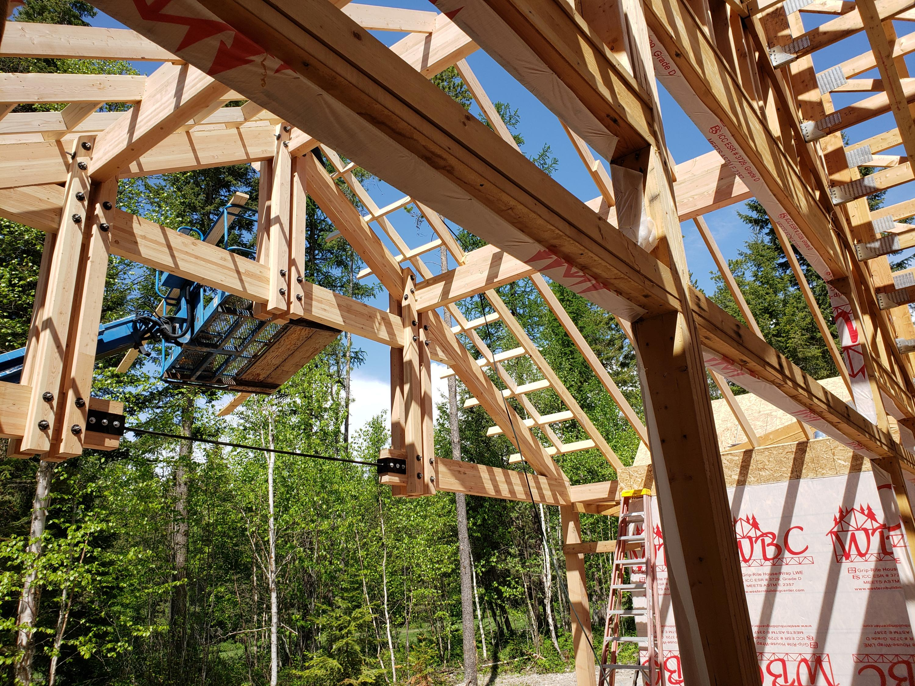 Covered Deck Beam Structure
