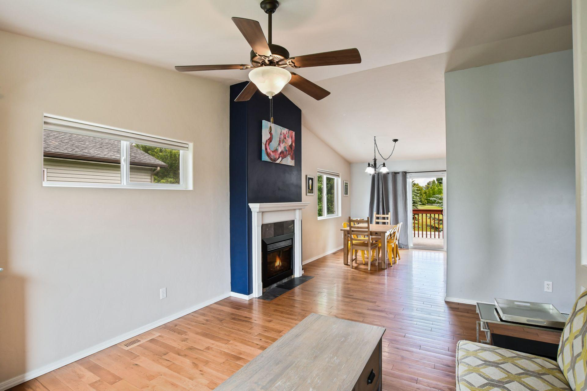 Fireplace, Living Room, Dining Room