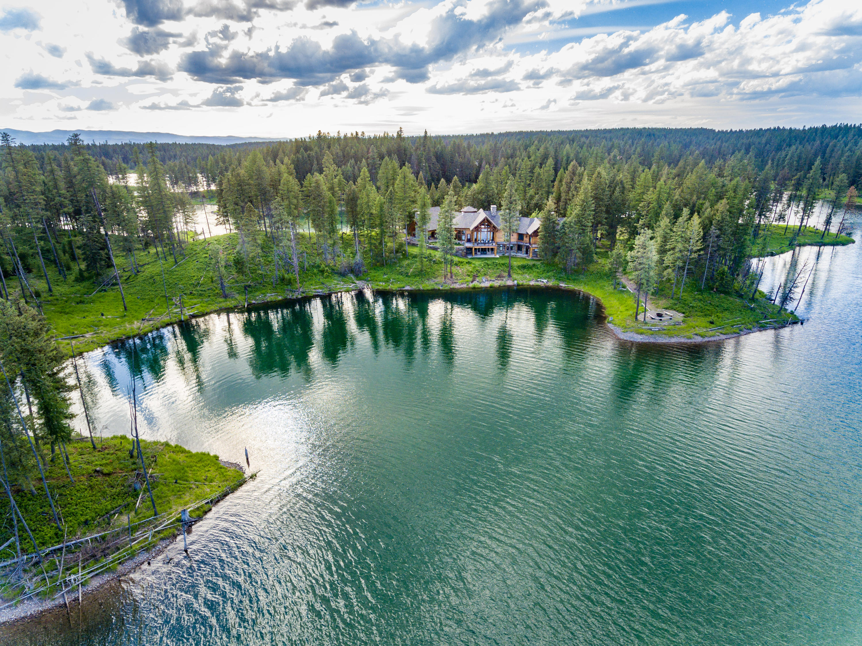 Privacy and 360 degree access to lake  -