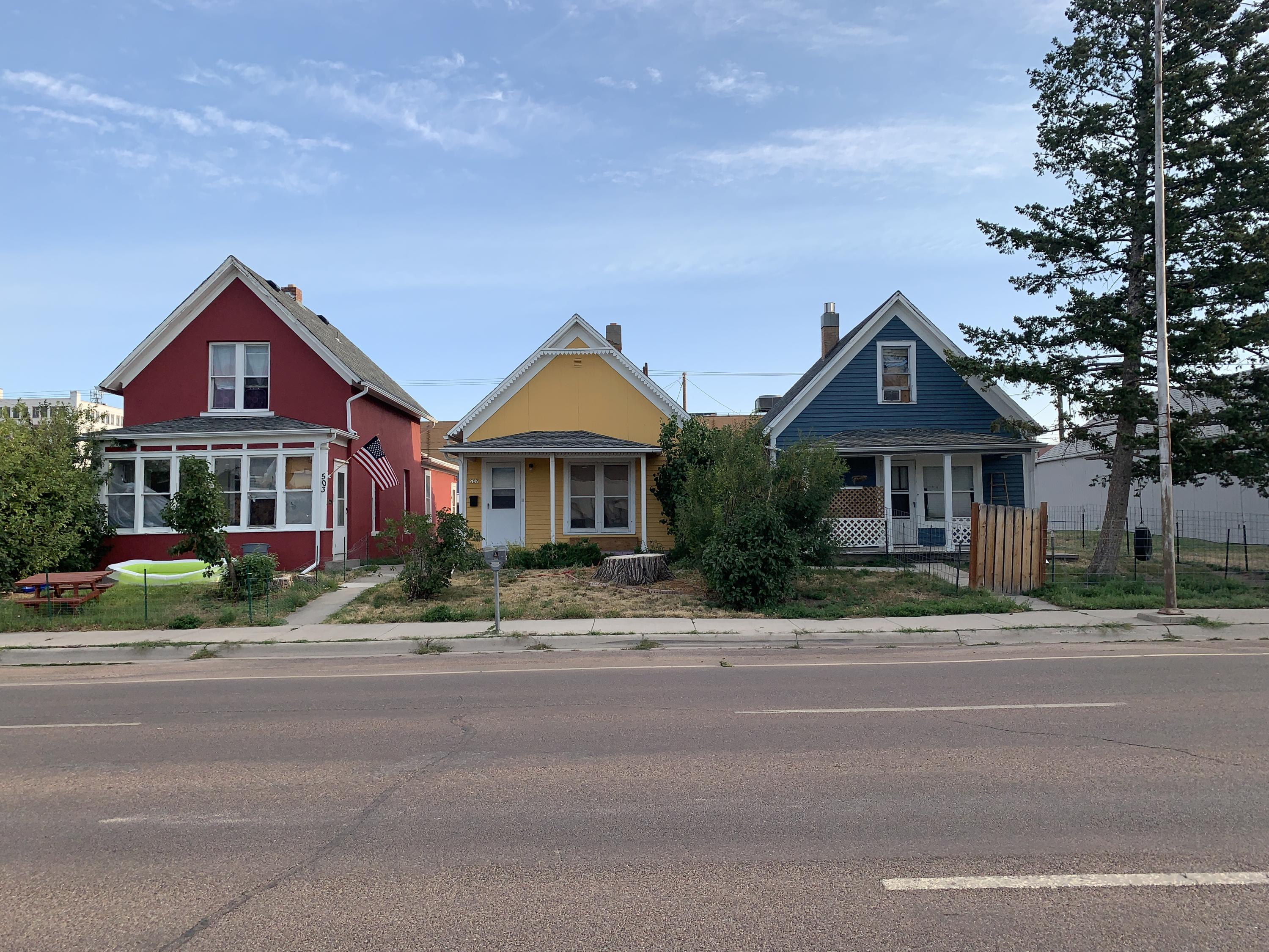 Front 3 houses