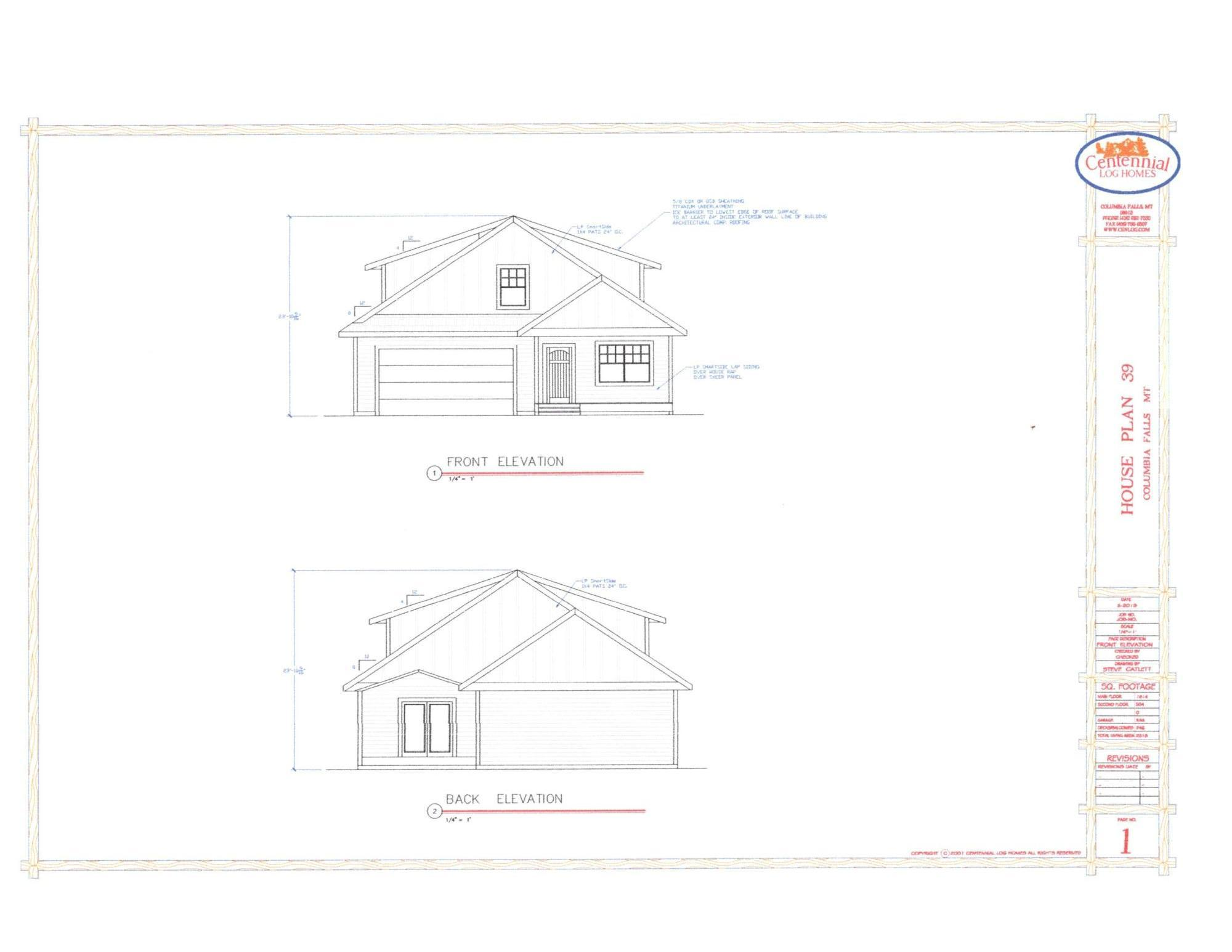 Lot 39 Front and back elevation