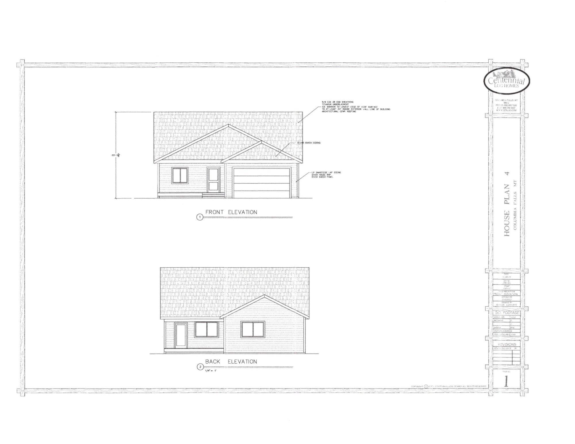 Lot 4_ Front and Back Elevation