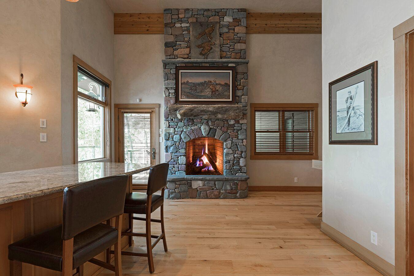 fireplace game area
