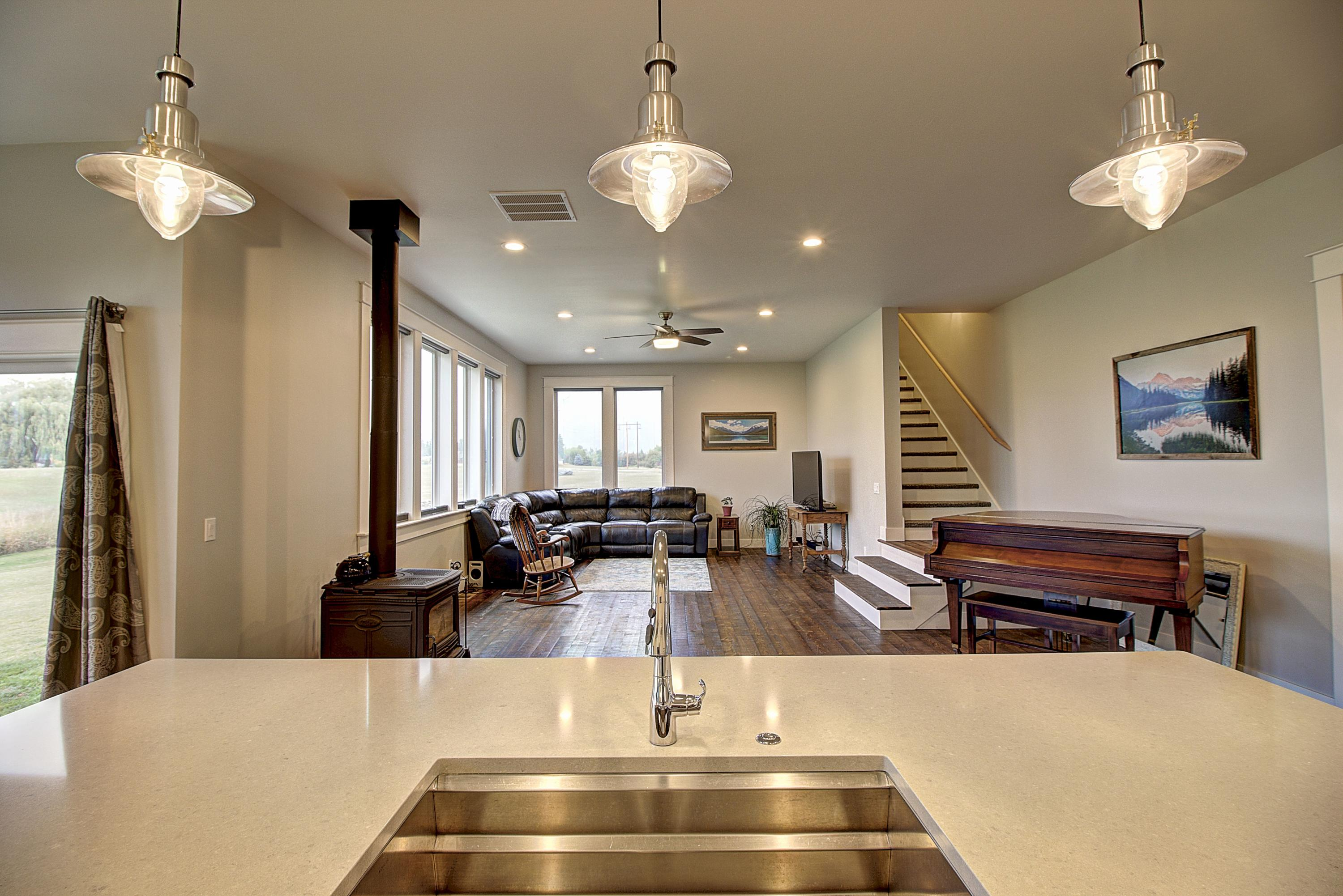Kitchen to Living Room View