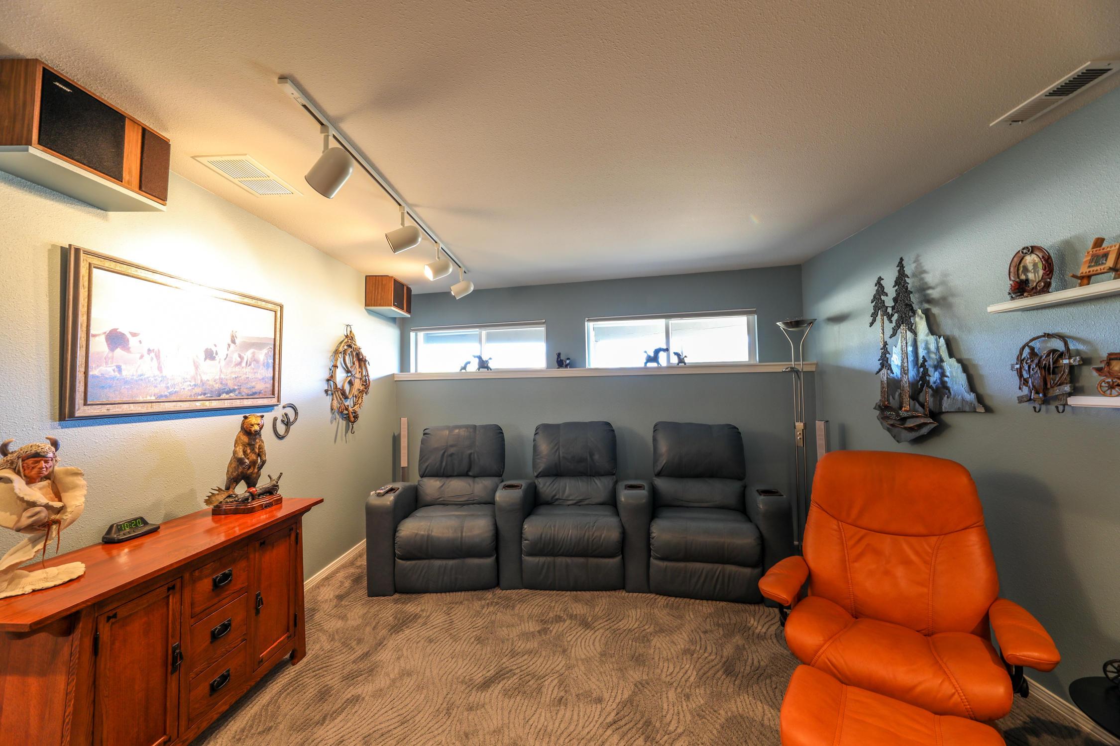 Lower level media/family room