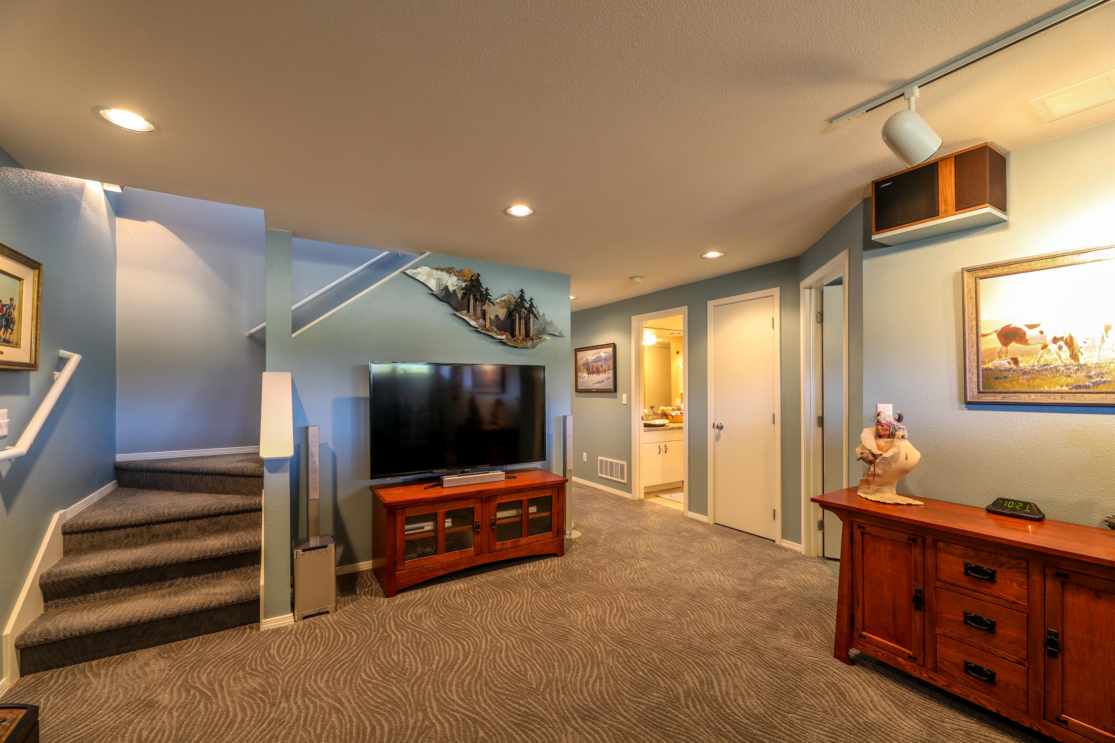 lower level media/ family room