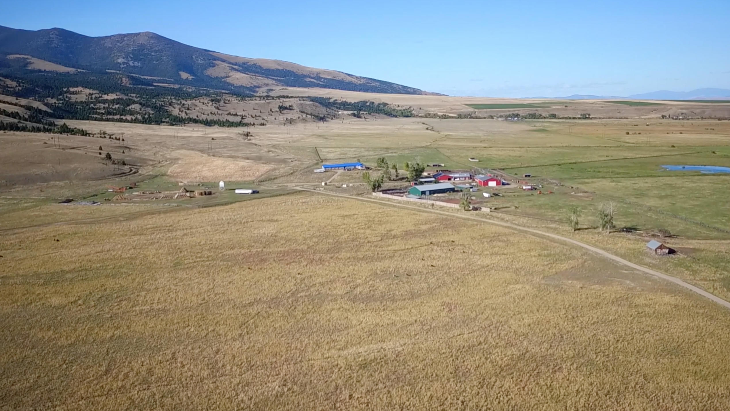 Aerial of Main House & Ranch