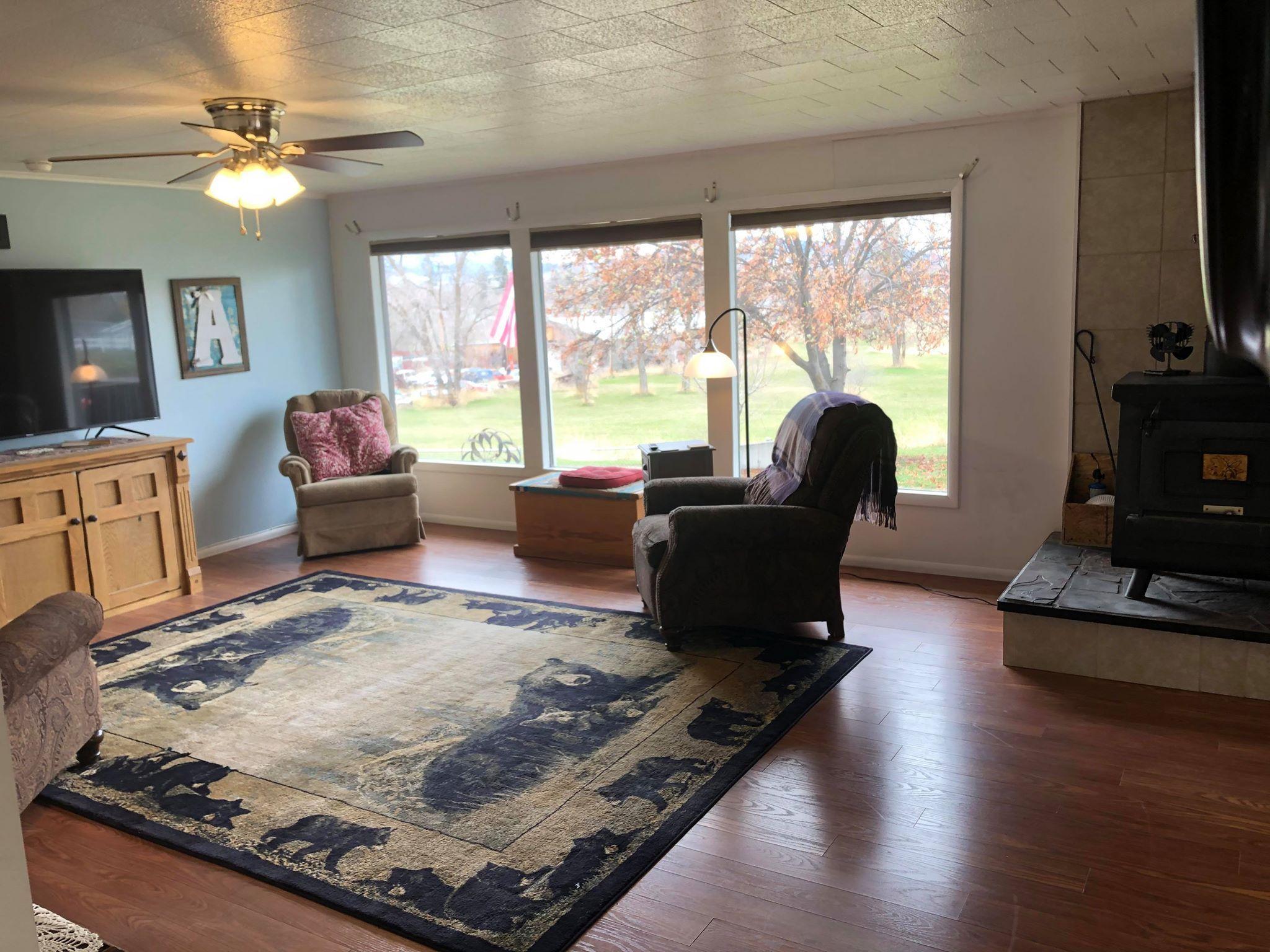 Main Level Living Room & Wood Stove