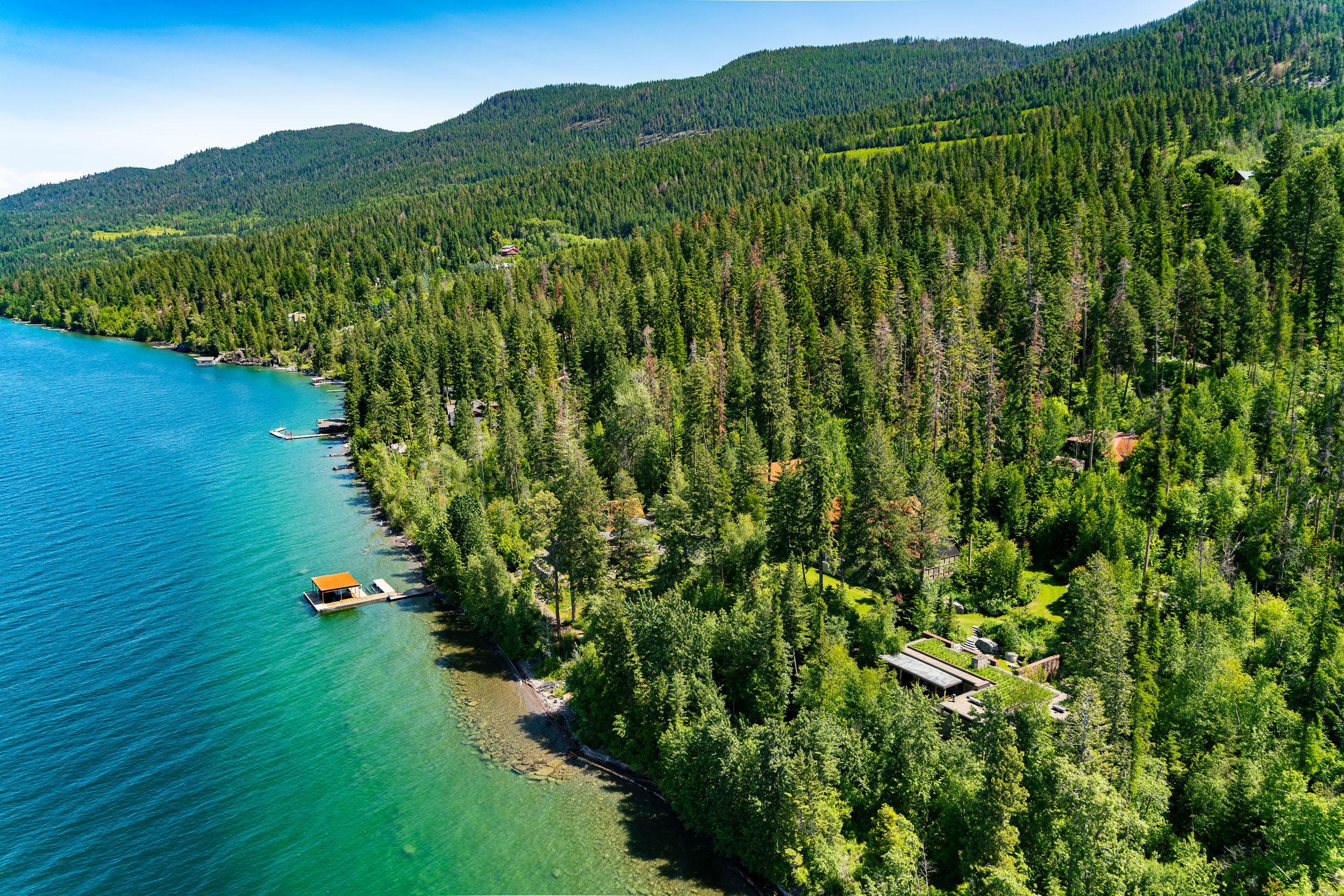 Aerial of Camp & Lake
