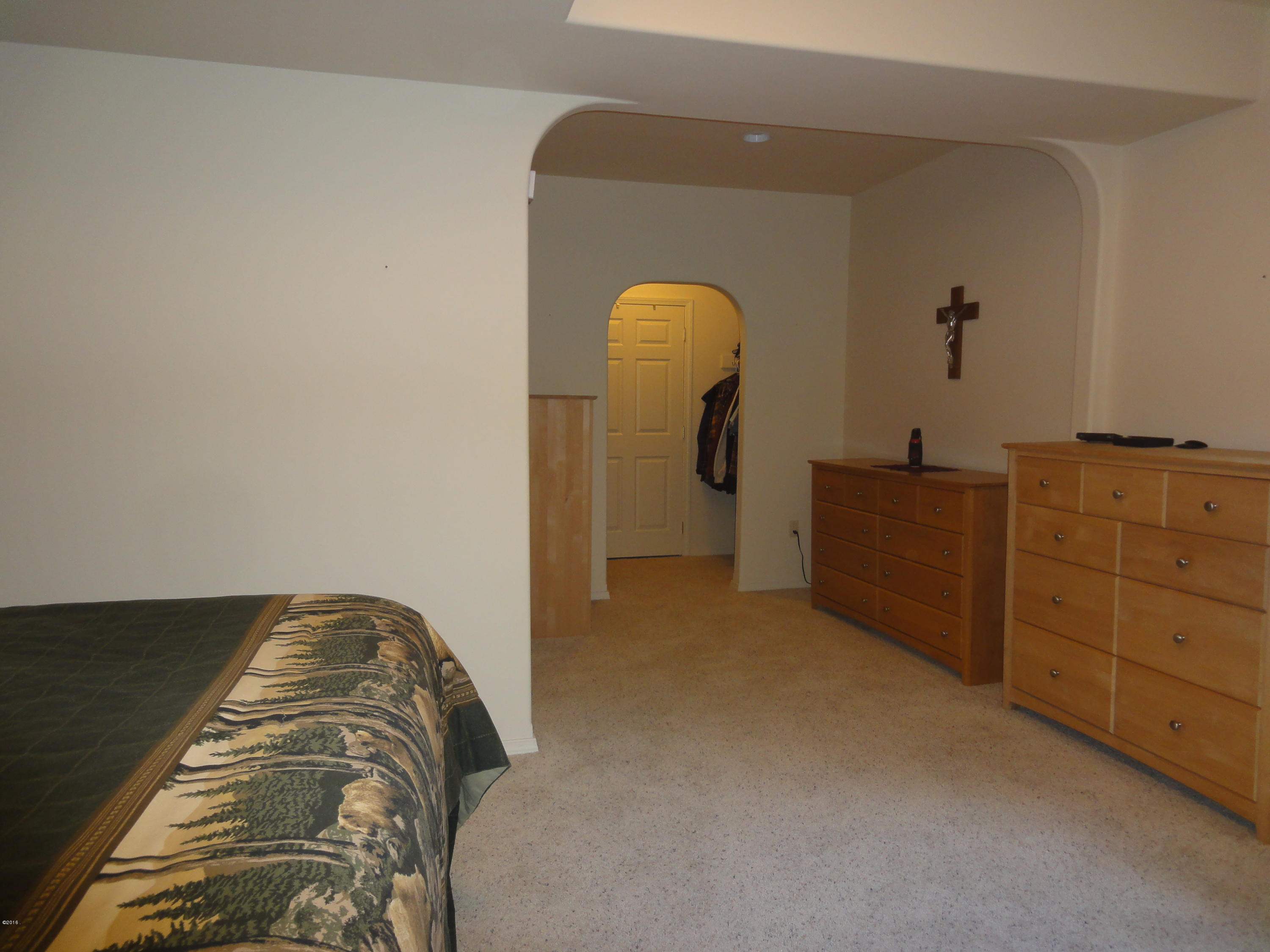 Lower Level Master BR with closet