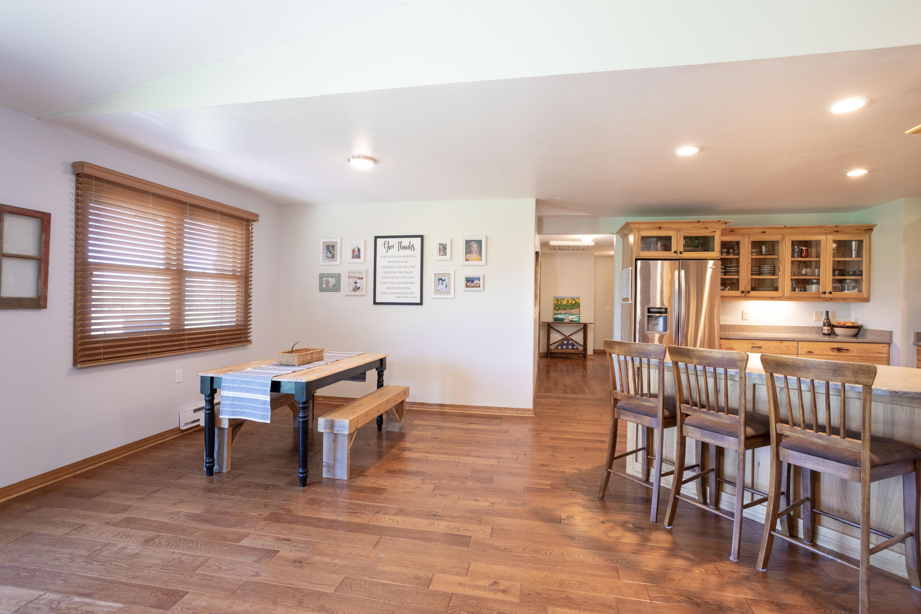 Open Dining to Kitchen