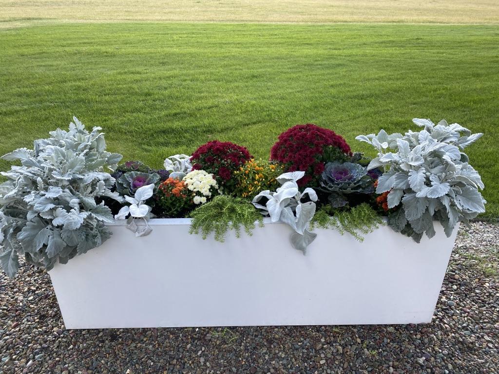 Fall flower planter