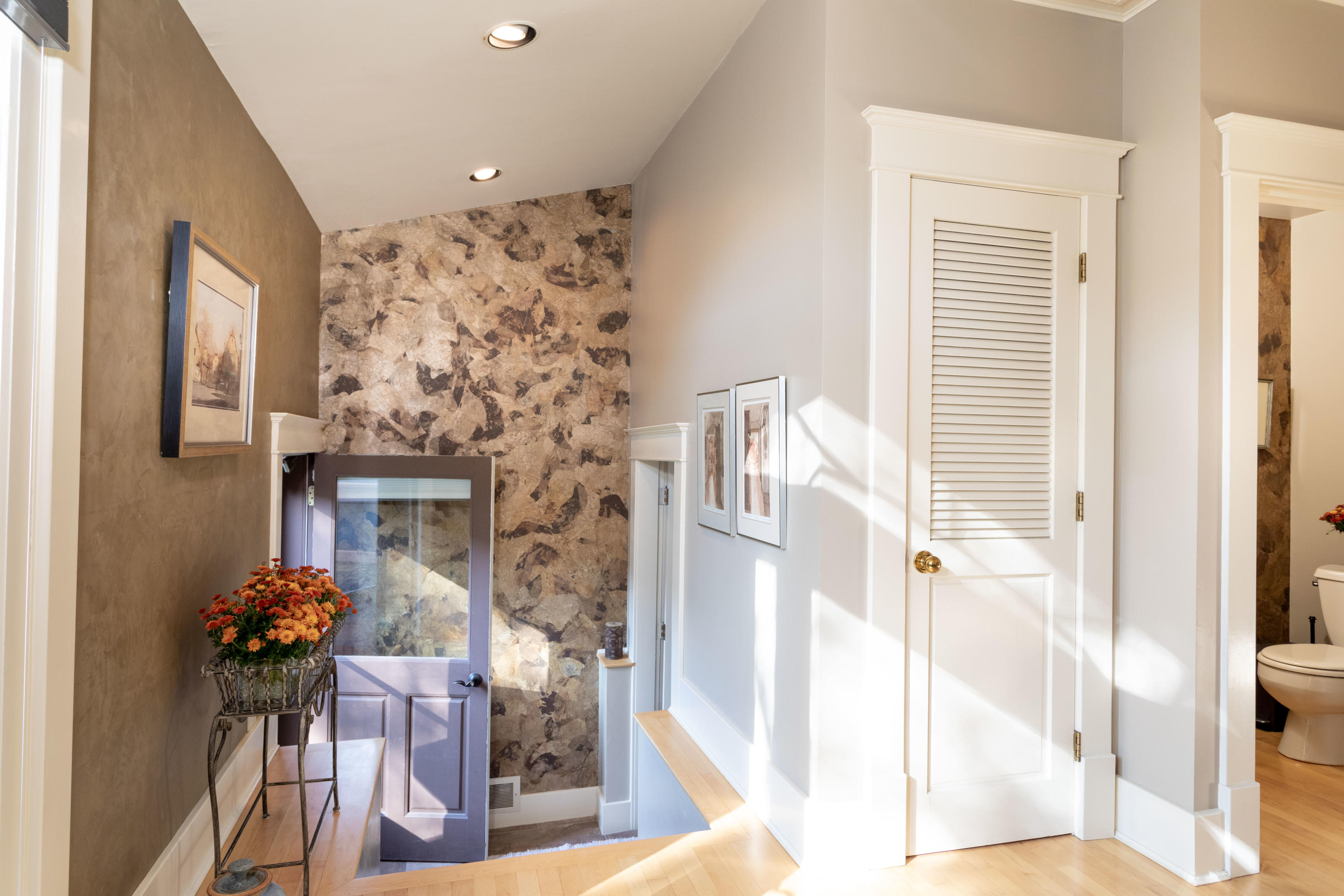 Stairs to basement and pantry