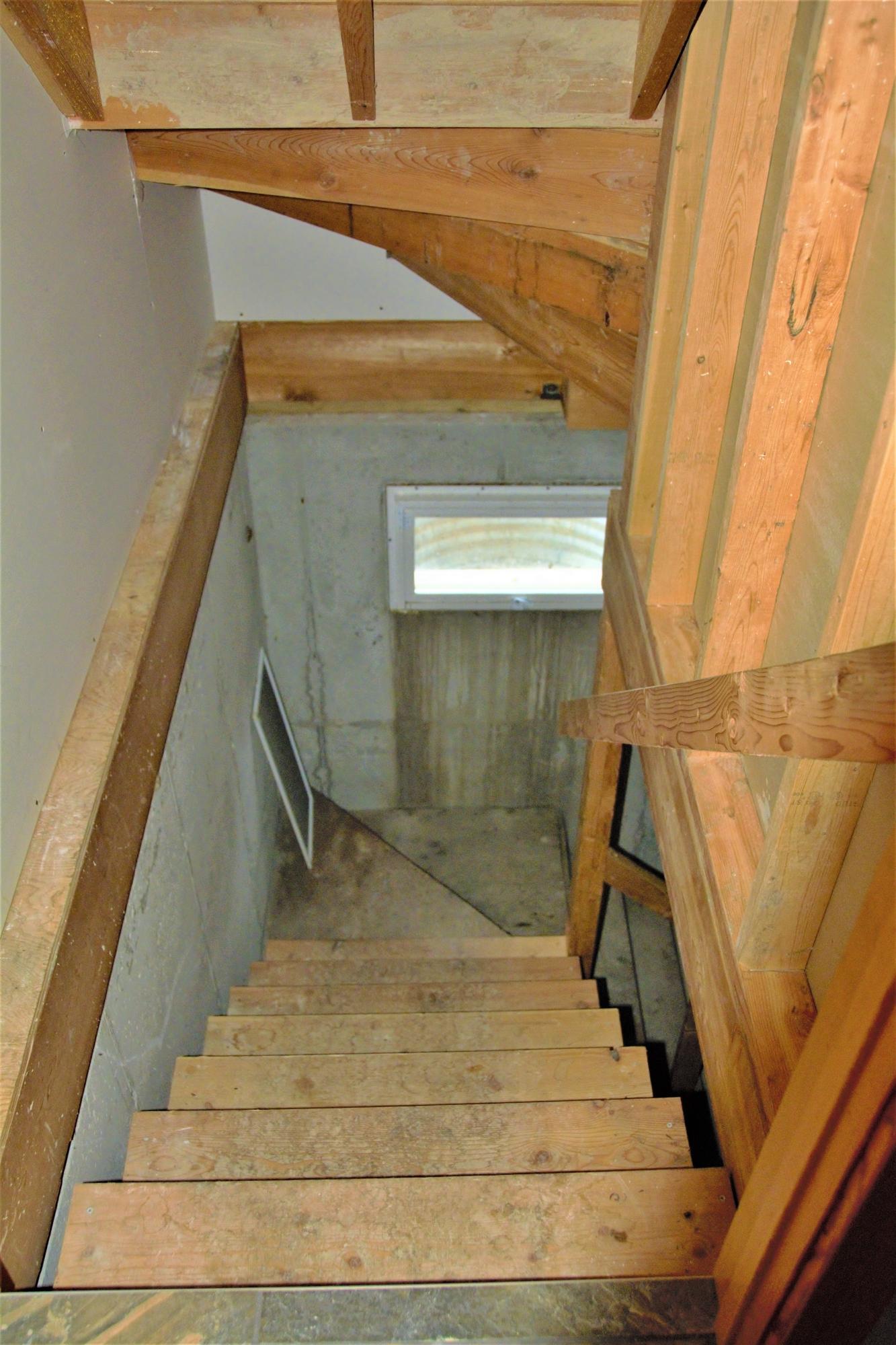 Cabin Basement Stairs