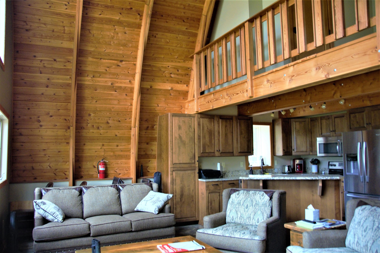 Cabin LR-Loft view
