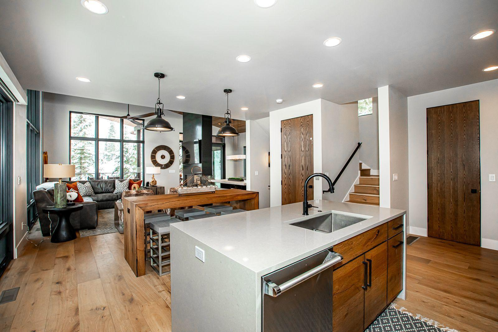 main level kitchen open living area