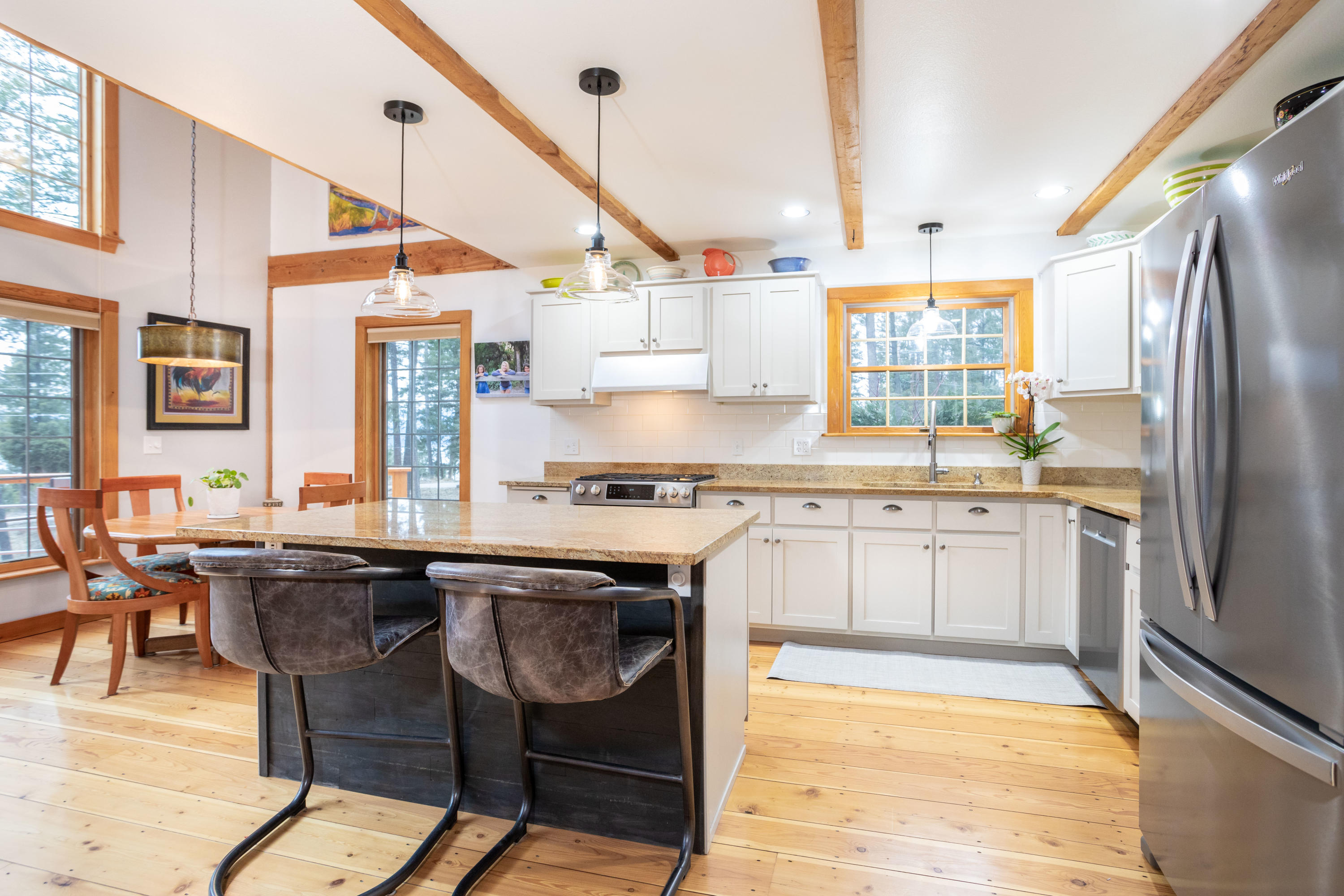 Open kitchen/dining/living