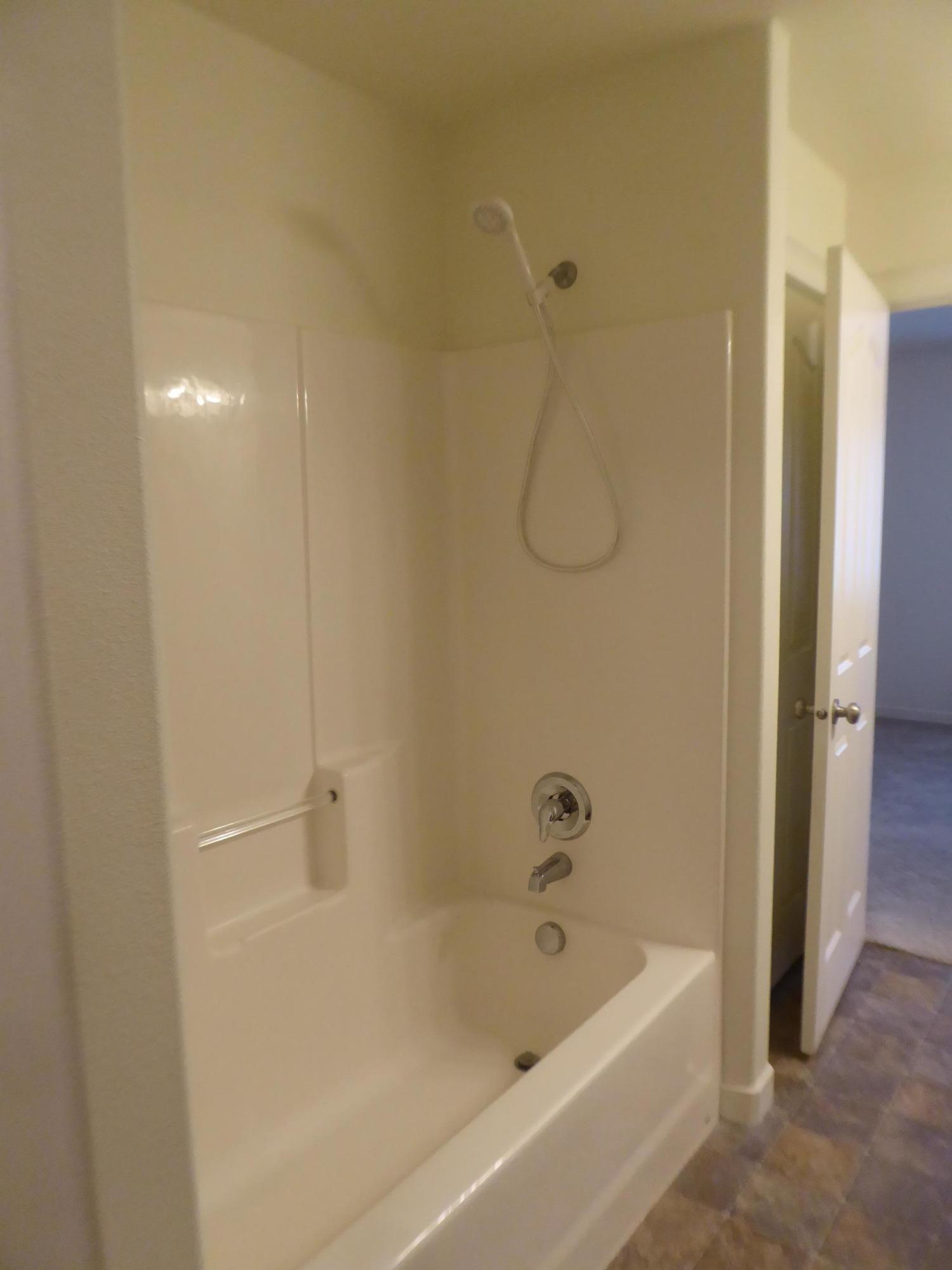 Tub/shower in master bathroom