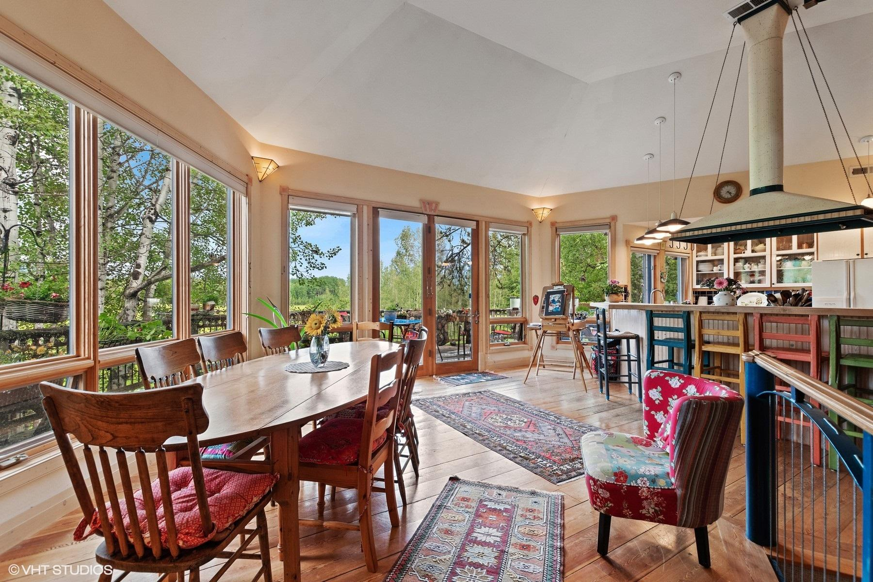 Lots of windows bring outdoors in
