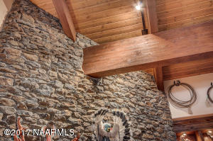 Detail: Wood Beams and Rock Work