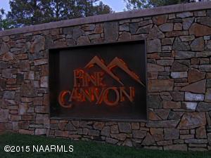 Pine Canyon Entance Sign