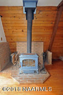 Wood Stove in Family Room
