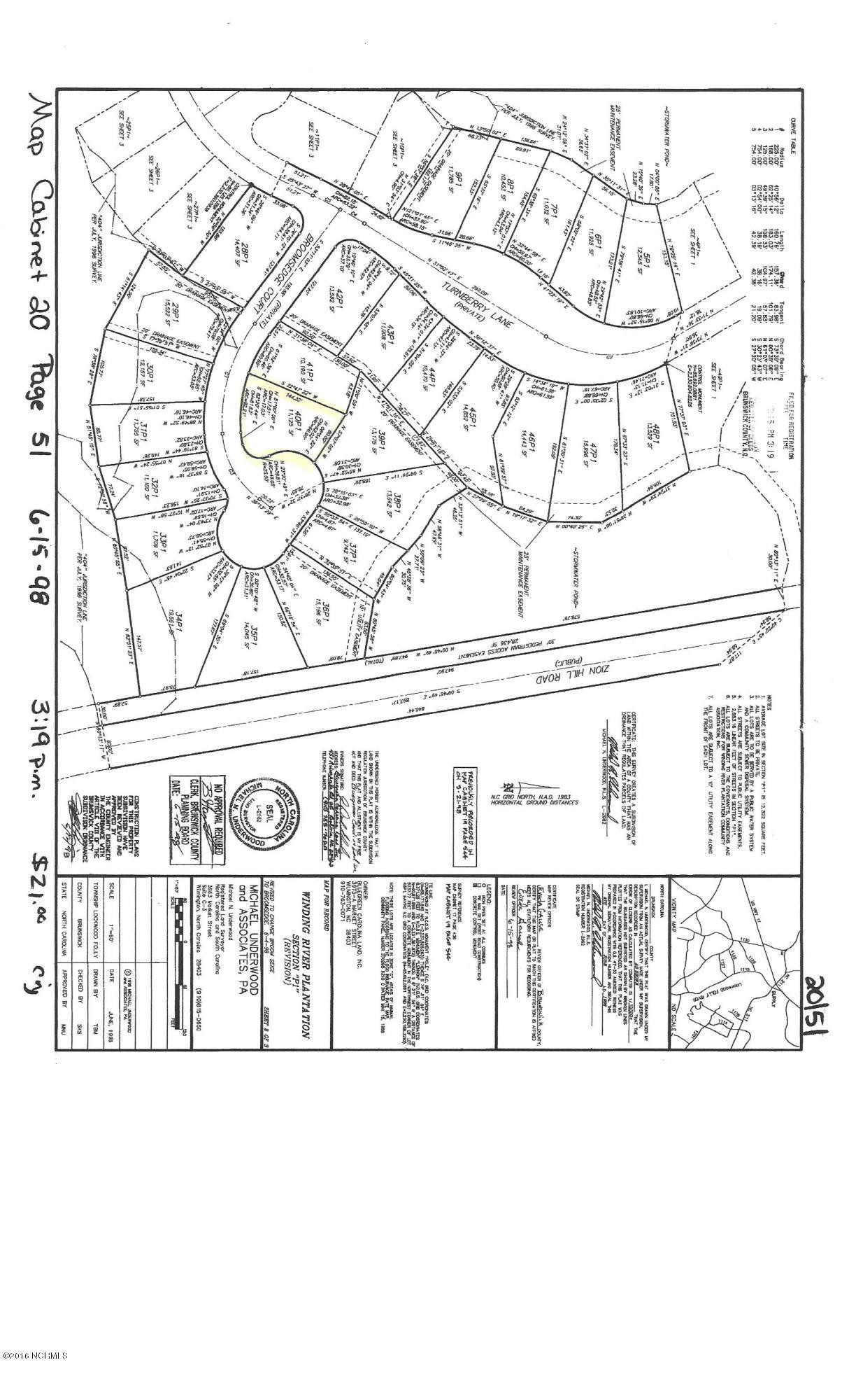 488 Broomsedge Court, Bolivia, North Carolina 28422, ,Residential land,For sale,Broomsedge,100012380