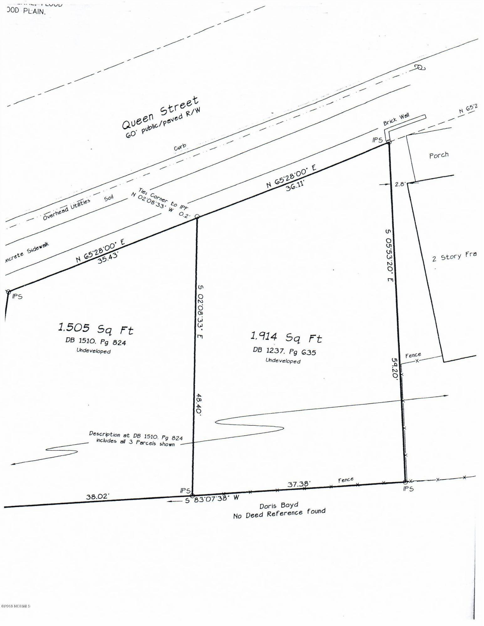 621 Queen Street, New Bern, North Carolina 28560, ,Residential land,For sale,Queen,100121182