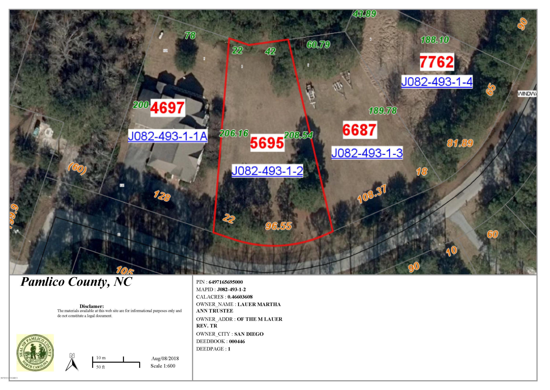603 Windward Drive, Oriental, North Carolina 28571, ,Residential land,For sale,Windward,100129605