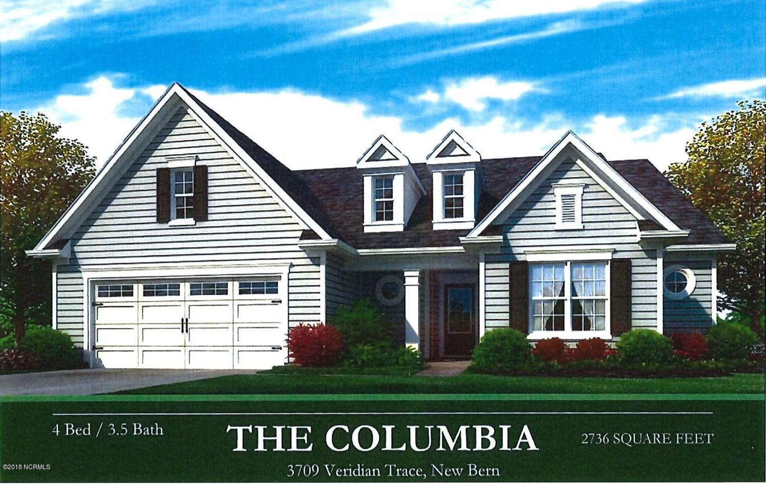 3709 Viridian New Bern,North Carolina,4 Bedrooms Bedrooms,7 Rooms Rooms,3 BathroomsBathrooms,Single family residence,Viridian,100134381