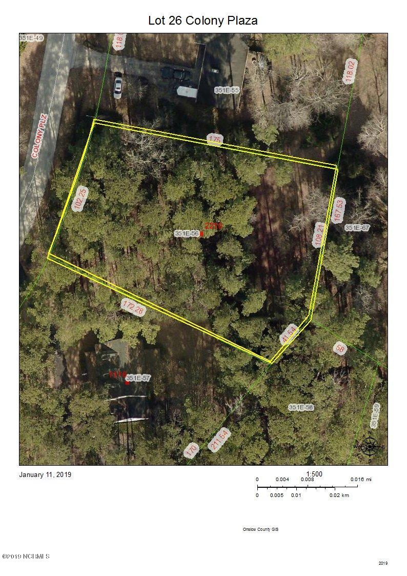 Lot 26 Colony Plaza, Jacksonville, North Carolina 28546, ,Residential land,For sale,Colony,100146057