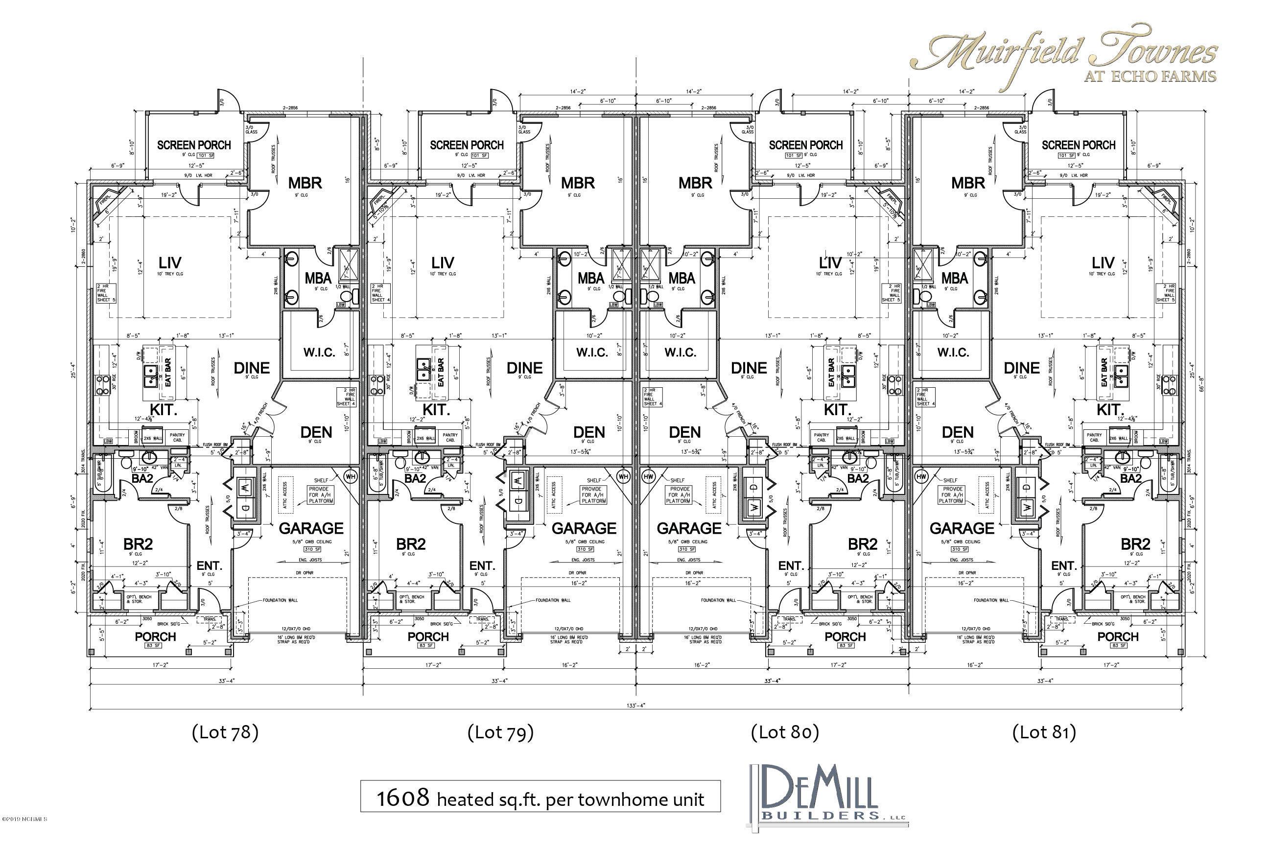 4316 Terrington Drive, Wilmington, North Carolina, 2 Bedrooms Bedrooms, 5 Rooms Rooms,2 BathroomsBathrooms,Townhouse,For sale,Terrington,100103083