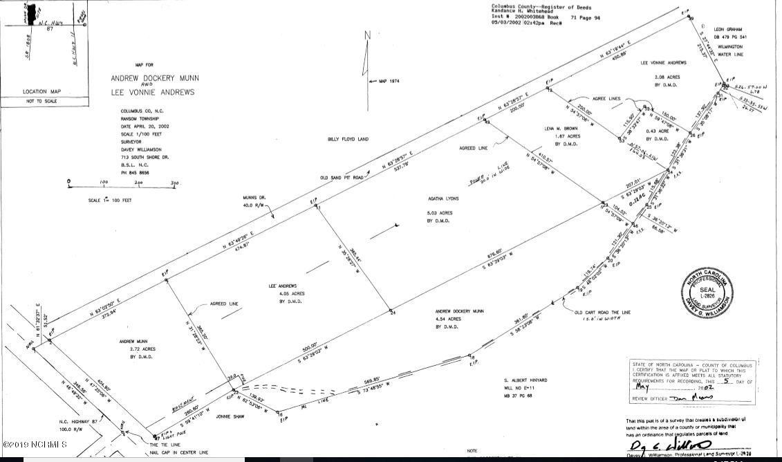 5.09+/- Ac Andrews Drive, Sandyfield, North Carolina 28456, ,Undeveloped,For sale,Andrews,100157870