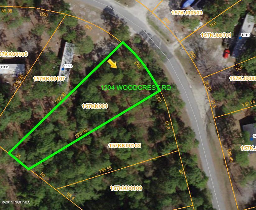 1204 Woodcrest Road, Boiling Spring Lakes, North Carolina 28461, ,Residential land,For sale,Woodcrest,100191027