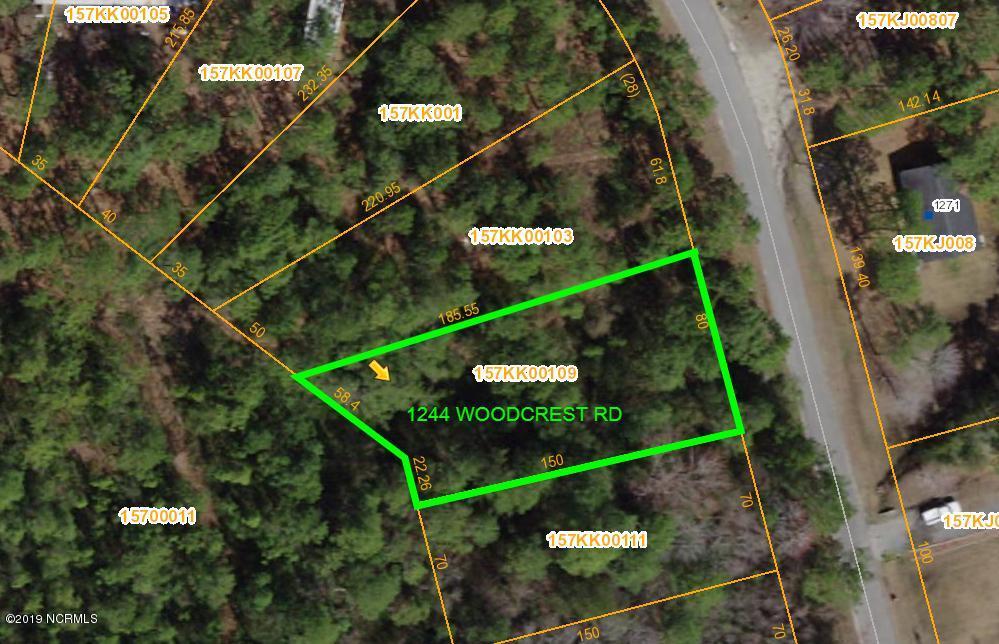 1244 Woodcrest Road, Boiling Spring Lakes, North Carolina 28461, ,Residential land,For sale,Woodcrest,100191026