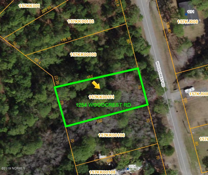 1254 Woodcrest Road, Boiling Spring Lakes, North Carolina 28461, ,Residential land,For sale,Woodcrest,100191028