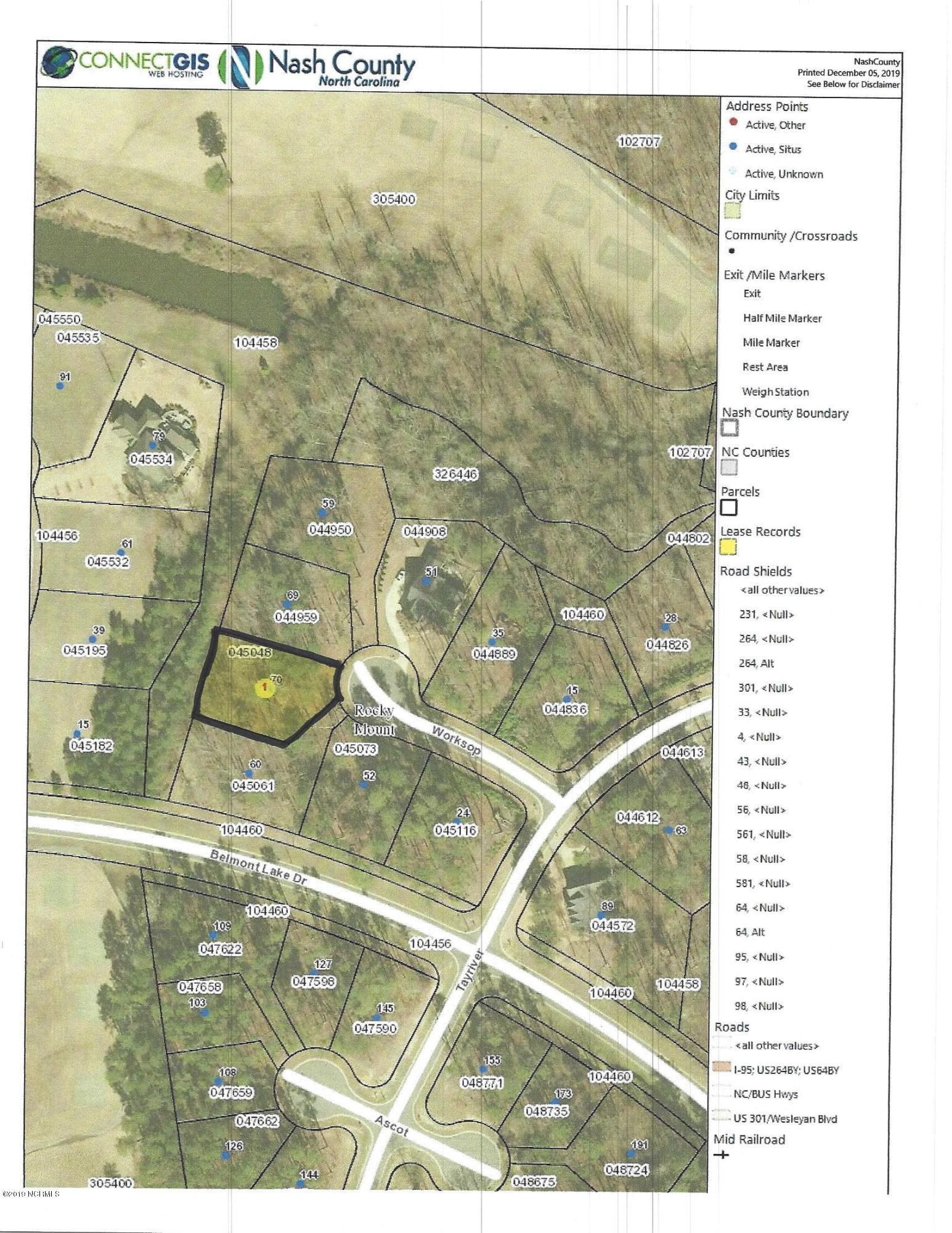 70 Worksop, Rocky Mount, North Carolina 27804, ,Residential land,For sale,Worksop,100196108