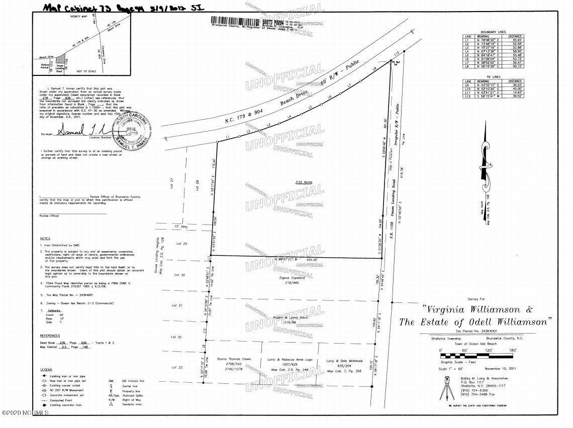 Hwy 179 & Gause Landing Road, Ocean Isle Beach, North Carolina 28469, ,Commercial/industrial,For sale,Gause Landing,100200083