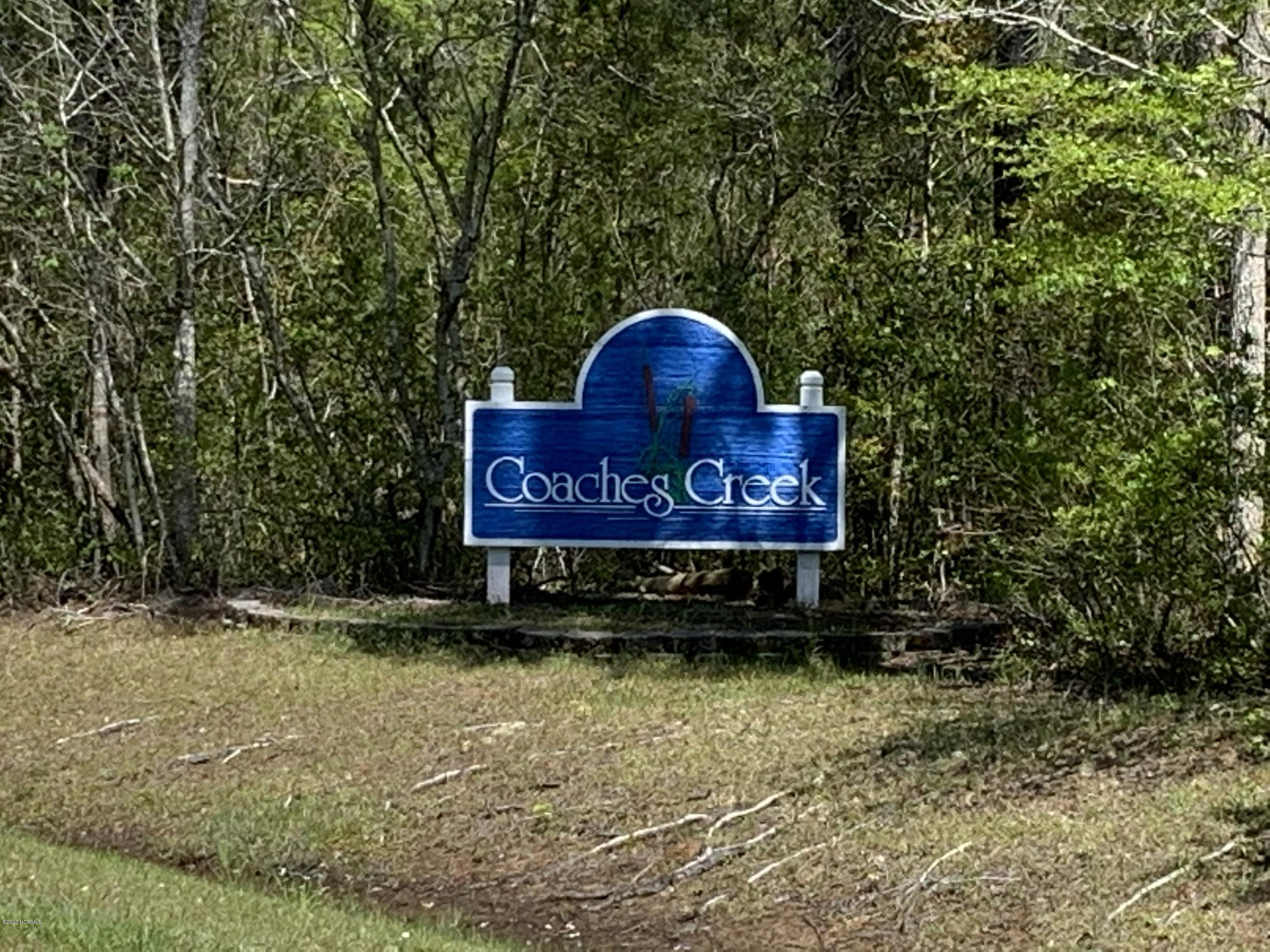 109 Coaches Creek Drive, Havelock, North Carolina 28532, ,Residential land,For sale,Coaches Creek,100213679
