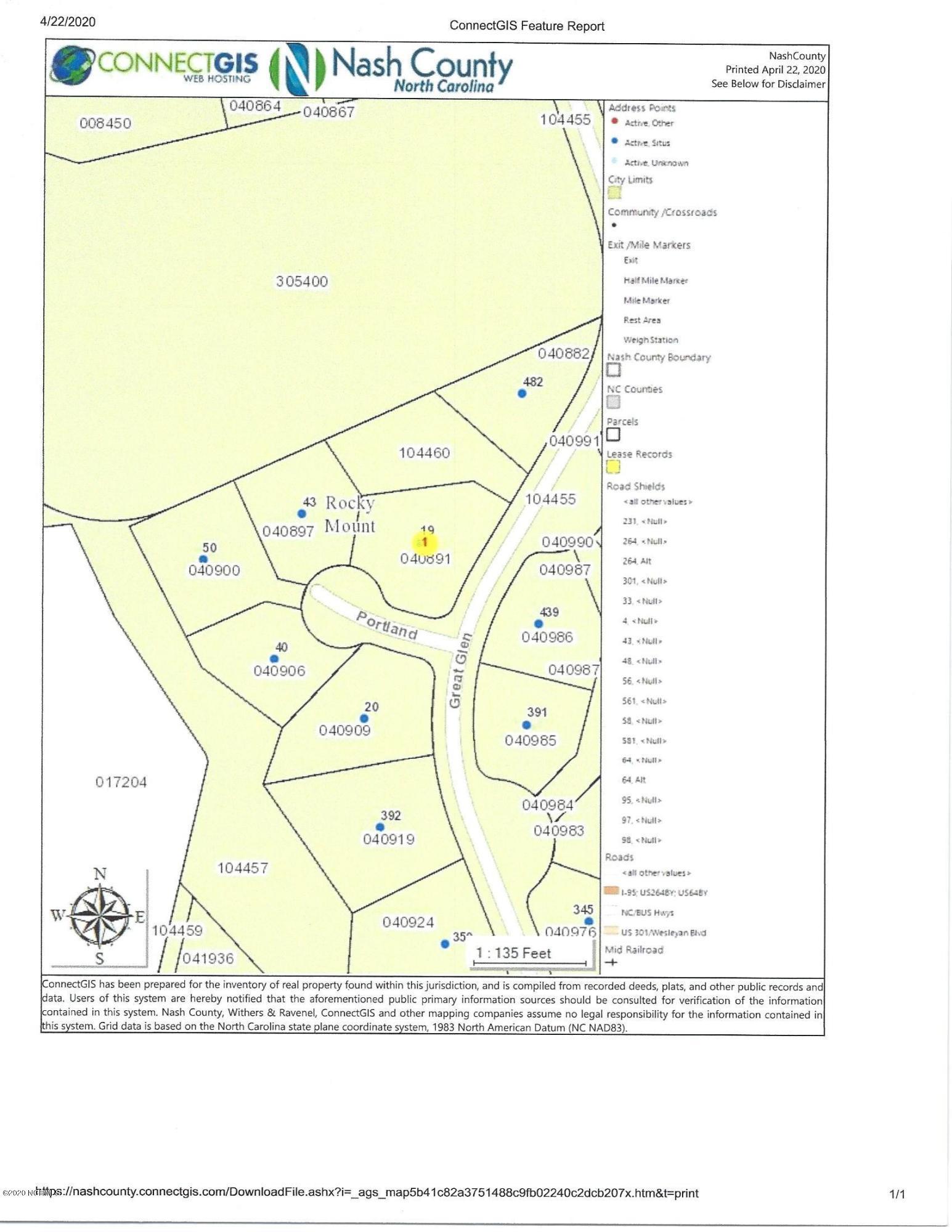 19 Portland, Rocky Mount, North Carolina 27804, ,Residential land,For sale,Portland,100214266