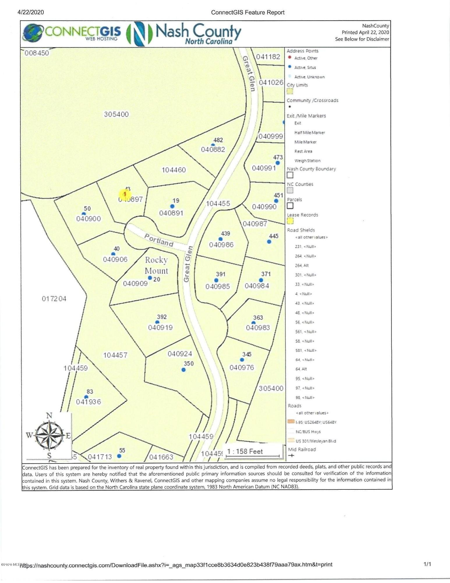 43 Portland, Rocky Mount, North Carolina 27804, ,Residential land,For sale,Portland,100214289