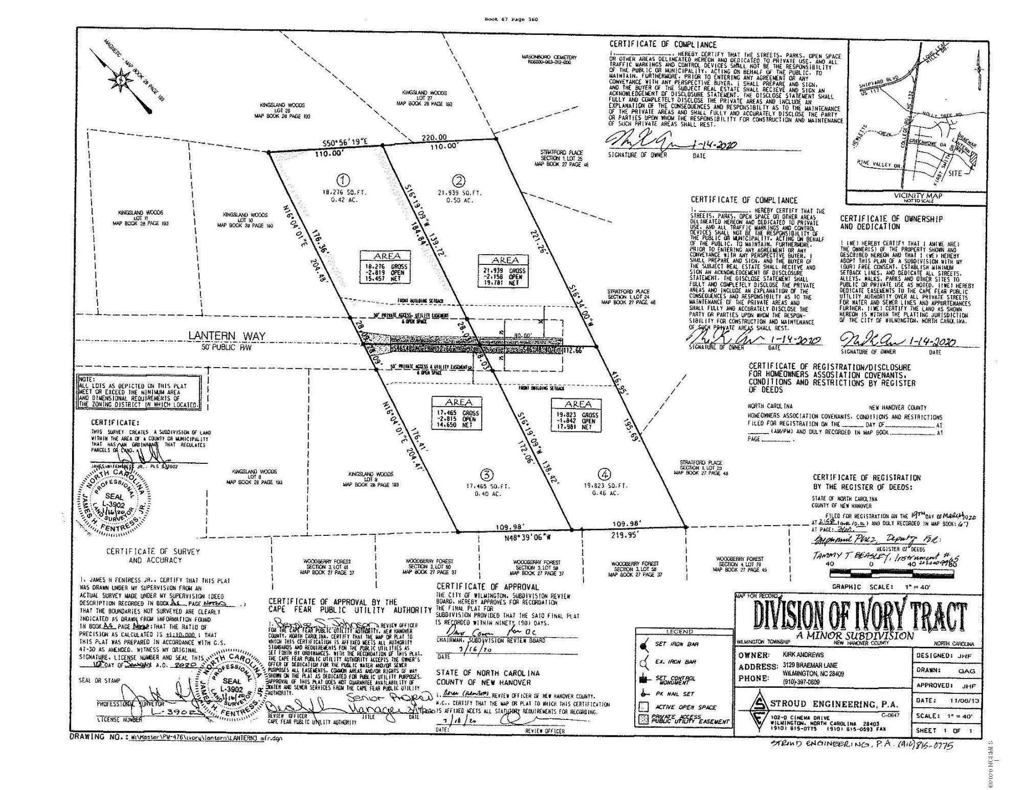 Lot 4 Lantern Way, Wilmington, North Carolina 28409, ,Residential land,For sale,Lantern,100221626