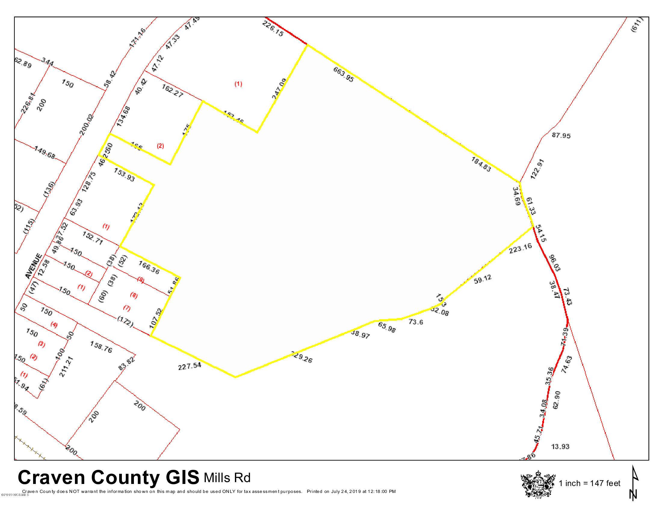 537 Mill Avenue, Vanceboro, North Carolina 28586, ,Wooded,For sale,Mill,100228756