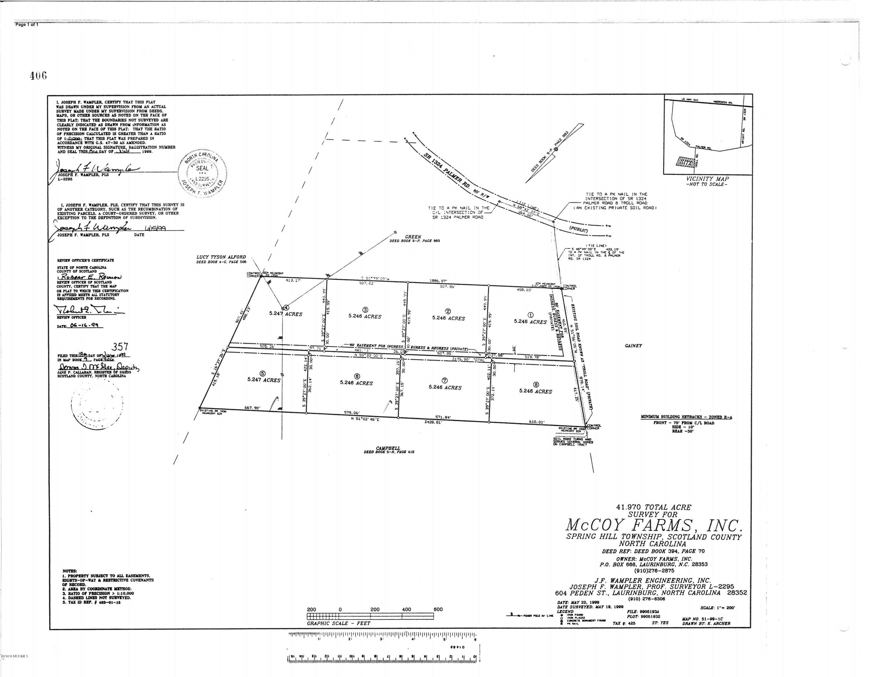 5 And 6 Troll Road, Marston, North Carolina 28363, ,Undeveloped,For sale,Troll,100231405