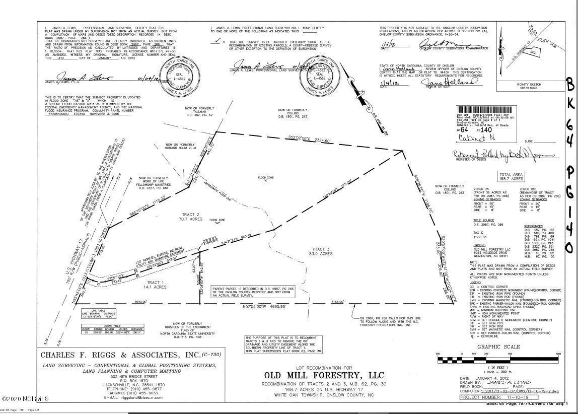 5780 New Bern Highway, Maysville, North Carolina 28555, ,Undeveloped,For sale,New Bern,100213295